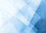 Fototapety abstract blue background with white transparent triangle layers in random pattern, with grainy scratch grunge texture