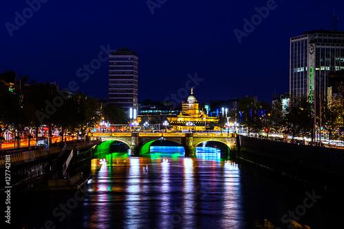 Poster Brücke in Dublin