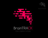 Fast brain logo template.