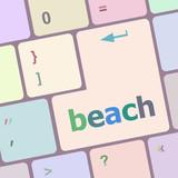 beach enter button on keyboard keys