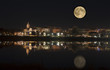 Fredericton in the moonlight New Brunswick, Canada