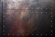 canvas print picture - Metal background, worn scratched steel texture