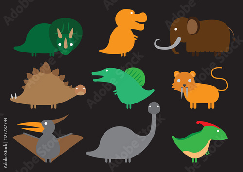 Plagát, Obraz dinosaur