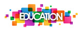 Fototapety EDUCATION Colourful Vector Letters Icon