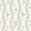 reamless floral pattern with lace and rose borders