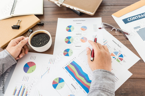 Corporate Business Planning with business chart Teamwork Concept