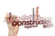 Construction work word cloud concept
