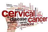 Cervical cancer word cloud