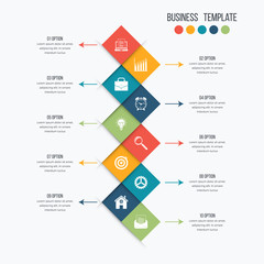 Vector infographic design 10 options
