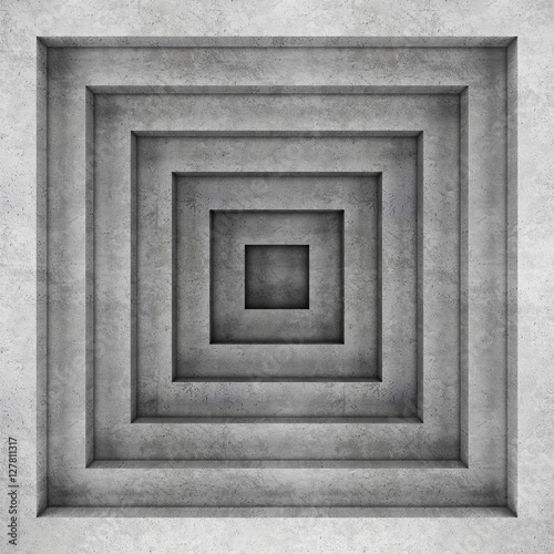 Fototapeta Geometric concrete background. 3D rendering