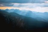 layered mountains landscape