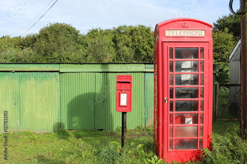 Poster Post box and telephone box
