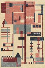 Vintage background avec des formes géométriques