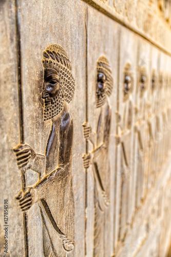 Immortals relief detail Persepolis Poster