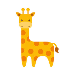 cute giraffe animal icon vector illustration design