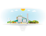 biomass power plant, biomass energy with steam turbine generate the electric