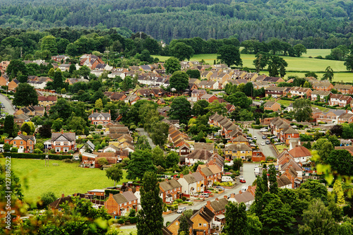 Poster aerial view of english village