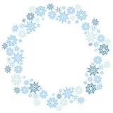 Large Christmas Snowflake Circle Pattern