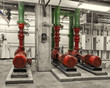 Chilled water pumps and VFD drives, toned image