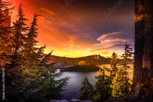 Foto op Plexiglas Bruin Crater Lake National Park Oregon