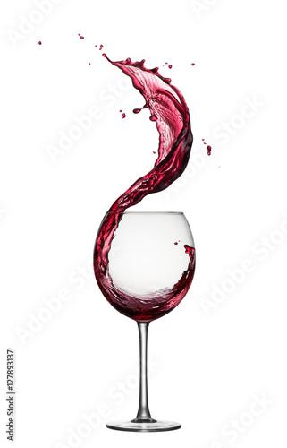 red wine splash