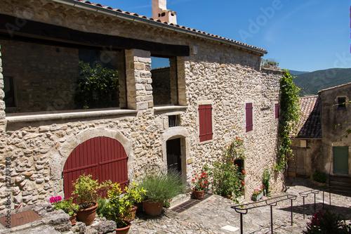 Poster Medieval Village in France