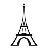 Eiffel tower icon. Simple illustration of eiffel tower vector icon for web