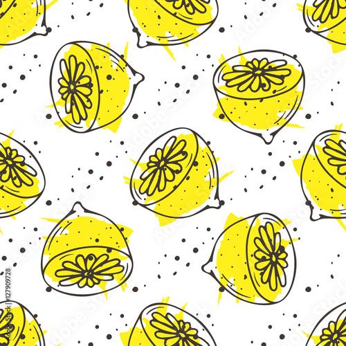 Fototapeta Lemon tea print.