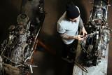 Motorbike repairman