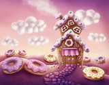 Fantasy colorful houses - 127916571