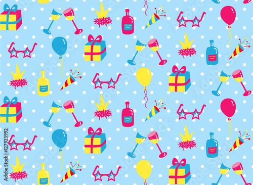Cotton fabric Party seamless pattern