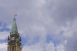 Canada flag half mast on Peace Tower