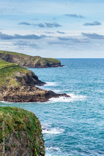 Poster Picturesque coastline of Cornwall, the UK's most westerly county