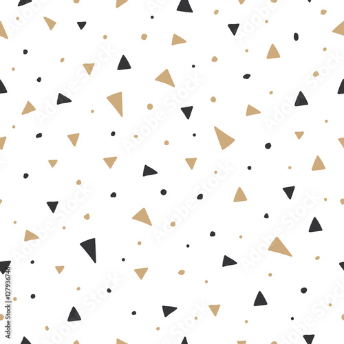 fototapeta na ścianę Christmas seamless pattern with triangles