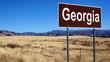 Georgia brown road sign