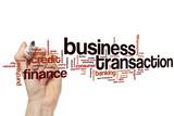 Business transaction word cloud concept