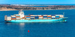 Container ship passing McNabs Island and Eastern Passage Nova Scotia