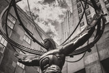 The famous Statue of Atlas holding the celestial spheres in New York Citys Fifth Avenue