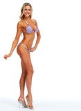 Female fitness model in bikini.