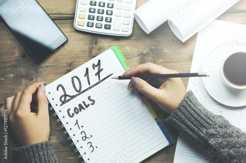 2017 goals on notebook