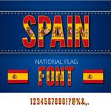 National Flag Font