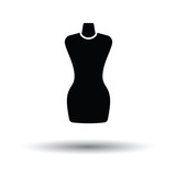 Tailor mannequin icon