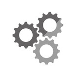 gears cog wheel icon vector illustration graphic design
