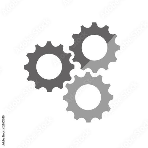 gears cog wheel icon vector illustration graphic design
