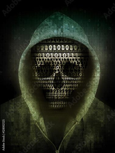 Leinwanddruck Bild hacker concept