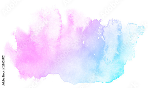 Abstract pink watercolor on white background.This is watercolor splash.It is drawn by hand. - 128008717