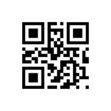 Vector QR code sample for smartphone scanning isolated on white background. - 128014751