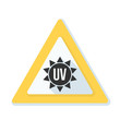 UV Ultraviolet  hazard sign