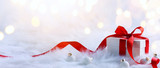 Christmas holidays composition on light background with copy spa - 128040573