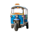Fototapety tuk-tuk isolated on white background